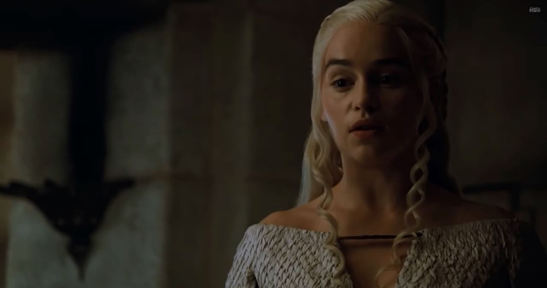 Game Of Thrones Season 5 Preview. Emilia Clarke as Queen Daenerys Targaryen