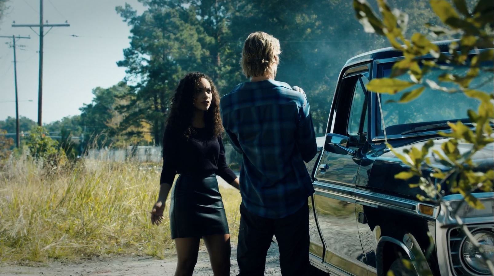 Sleepy Hollow Paradise Lost. Lyndie Greenwood in short leather skirt
