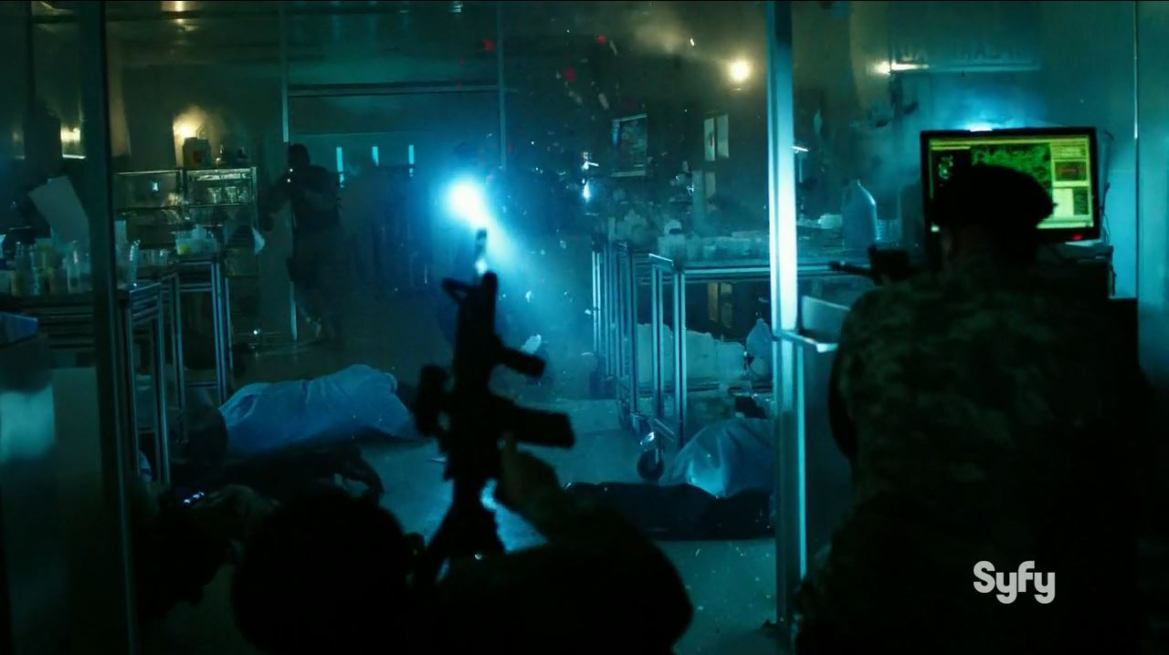 12 Monkeys S1Ep9 Tomorrow Review. Massacre of Spearhead.