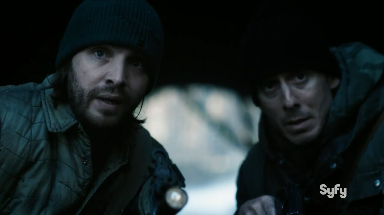 12 Monkeys S1Ep9 Tomorrow Review. Ramse and Cole ready for an ambush