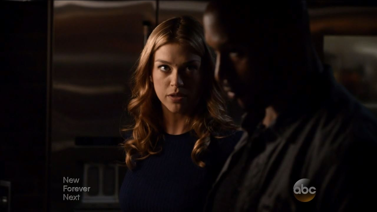 Agents of SHIELD S2Ep11 Aftershocks Review. Adrianne Palicki as Bobbi talking to Mack