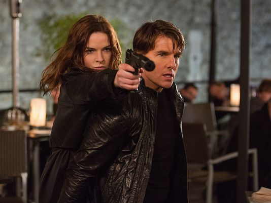 Mission Impossible Rogue Nation. Rebecca Ferguson and Tom Cruise