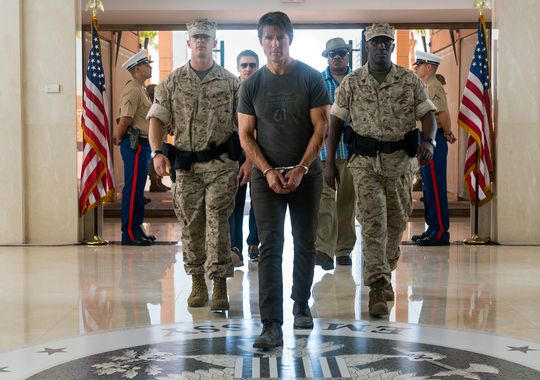 Mission Impossible Rogue Nation. Tom Cruise as Ethan Hunt arrested
