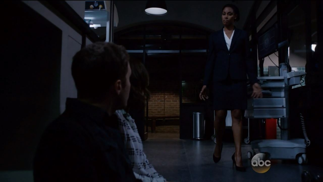 Agent Weaver in skirt and high heels. Agents of SHIELD S2Ep15 'One Door Closes' Review