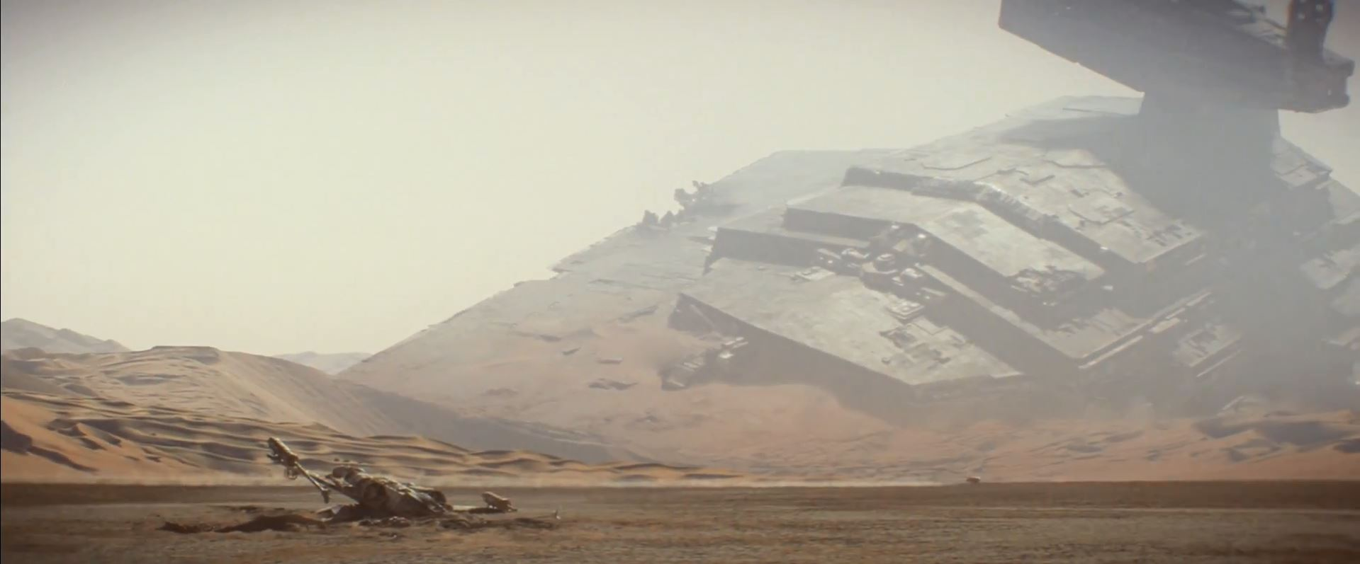 Crashed Star Destroyer on Tatooine