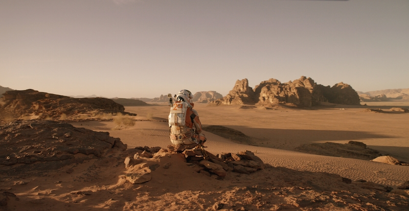 The Martian first on-set pictures. Wadi Rum in Jordan as Mars
