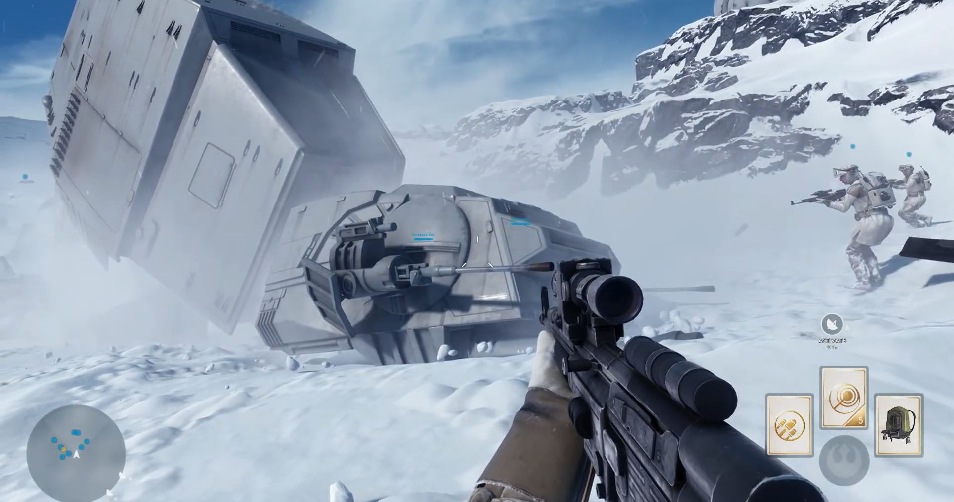AT-AT brought down - Star Wars Battlefront Preview
