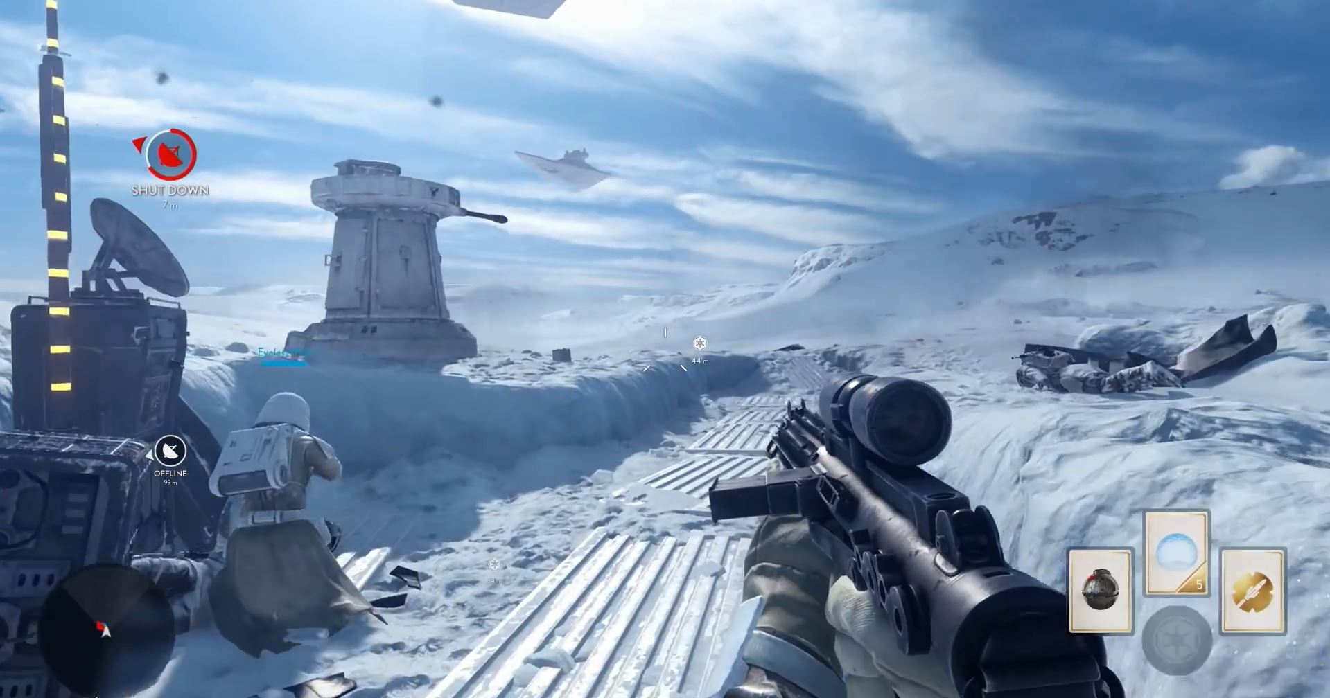 Capturing a rebel position - Star Wars Battlefront Preview