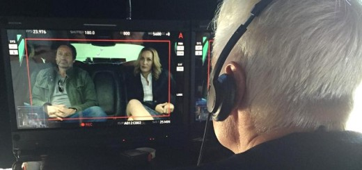 Chris Carter watching a scene between Mulder and Scully
