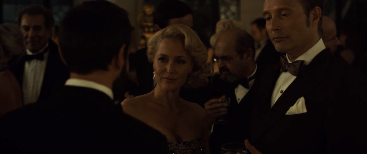 Hannibal Season 3 Premiere. Bedelia (Gilliand Anderson) dances with Hannibal