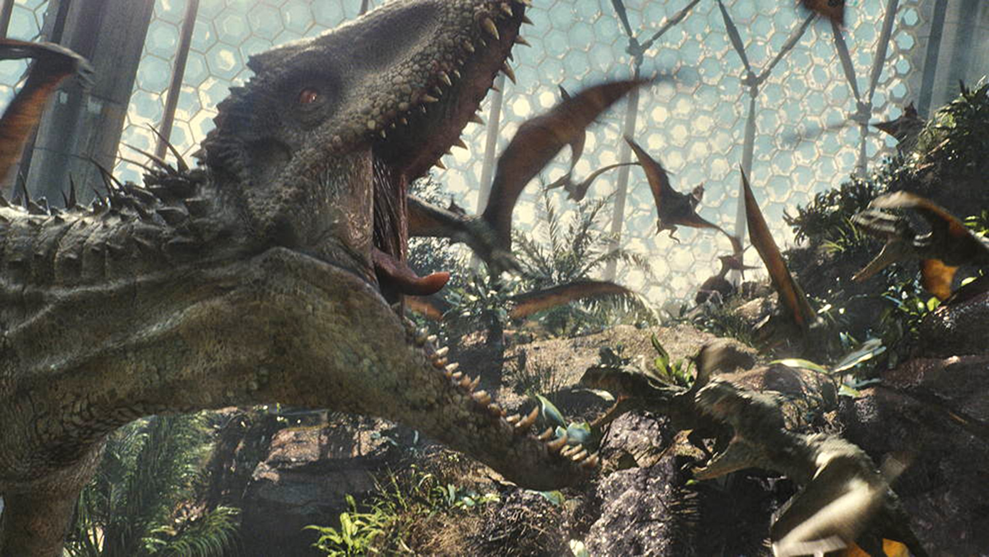 Indominus Rex in Avian cage - Jurassic World