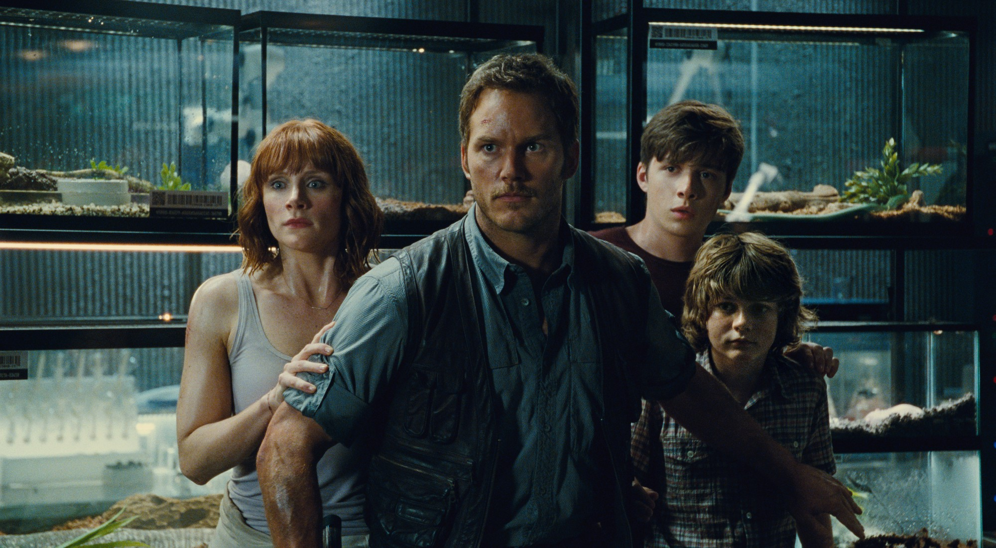Owen, Claire, Gray and Zach - Jurassic World