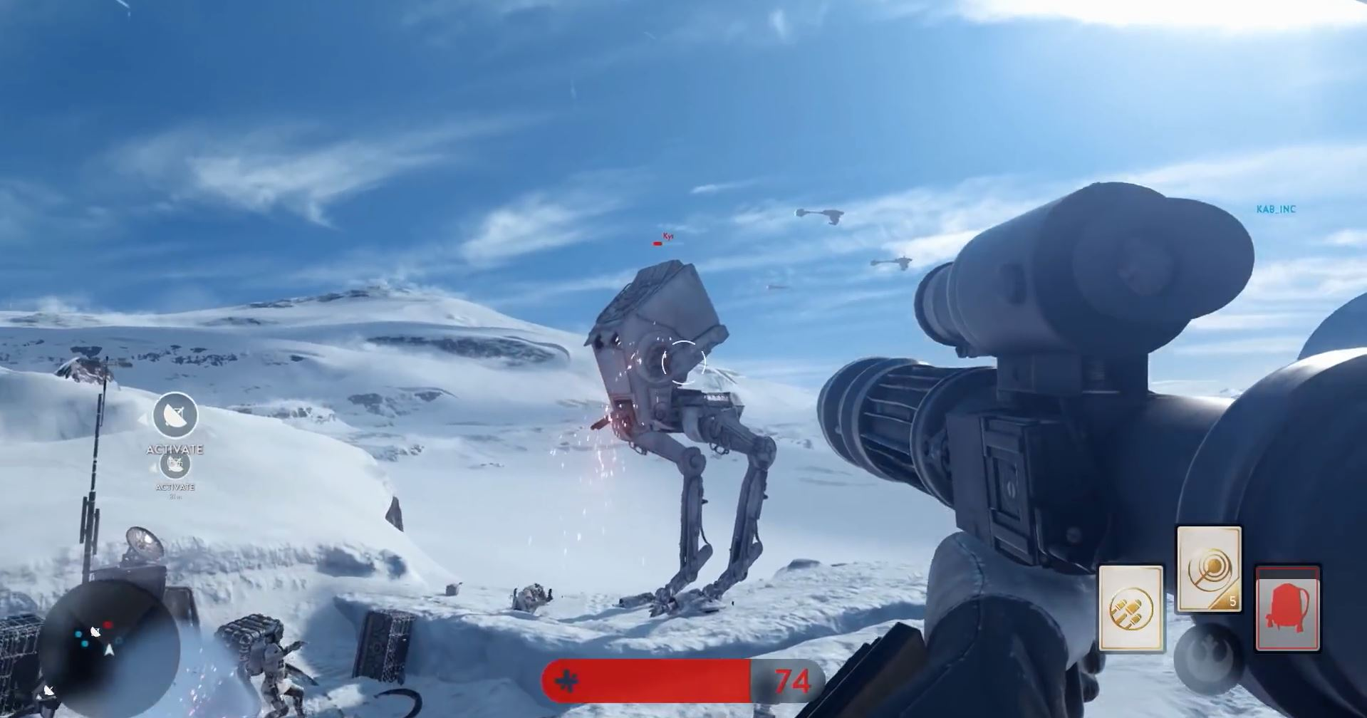 Rocket launcher on AT-ST - Star Wars Battlefront Preview