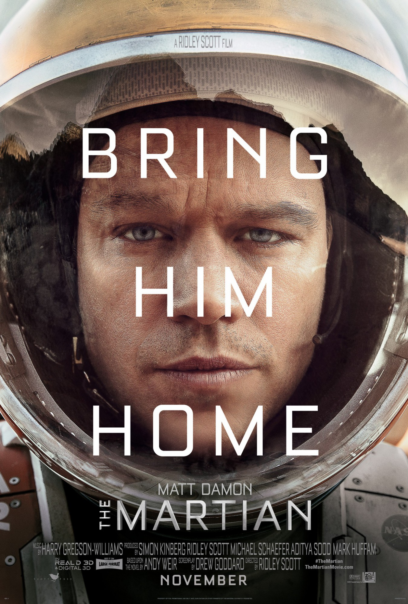 The Martian movie poster - bring hime home