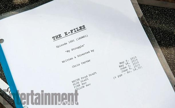 X-Files miniseries revival script page X-Files miniseries revival