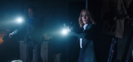 X-Files Revival miniseries. Scully (Gillian Anderson) in a pencil skirt