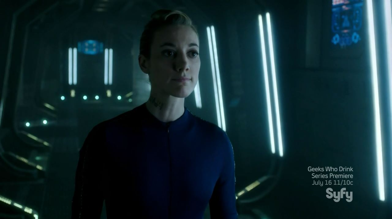 Zoie Palmer as the sexy Android. Dark Matter Episode 4 Review