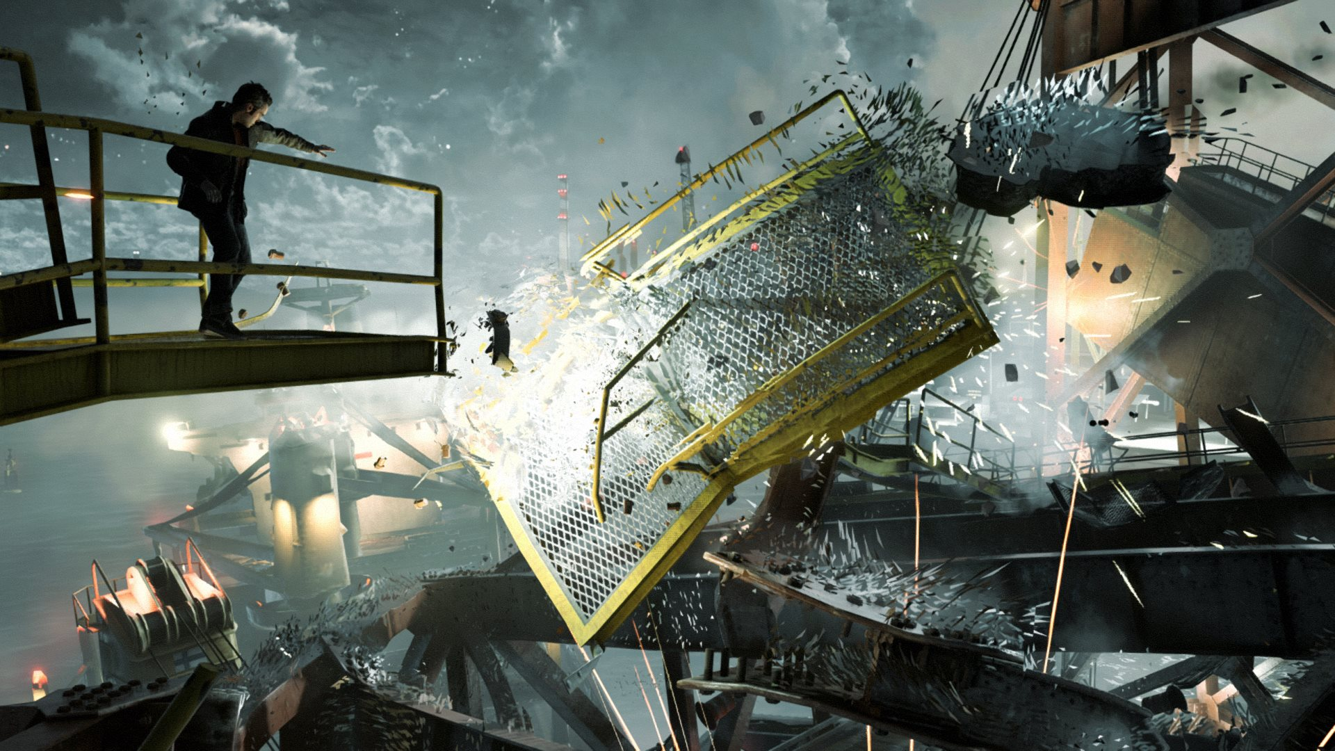 Quantum Break destructable environments