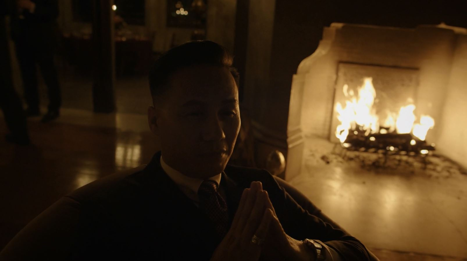 BD Wong watches rome burn - Mr. Robot Season Finale Review