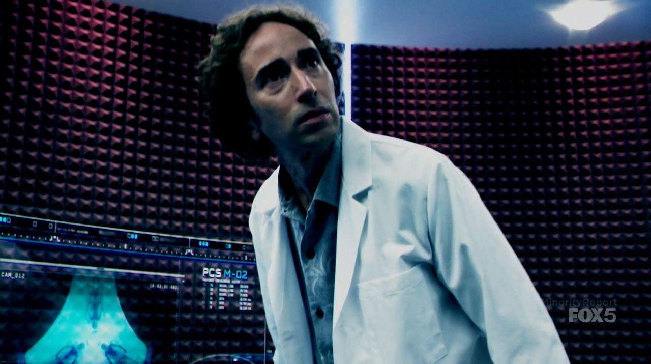 Daniel London as Wally. Minority Report S1Ep2 Mr. Nice Guy Review