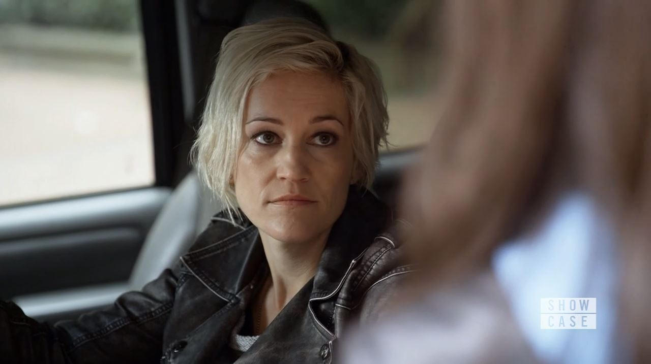 Garza talks to Kiera. Luvia Petersen in Continuum Season 4 Premiere Review.