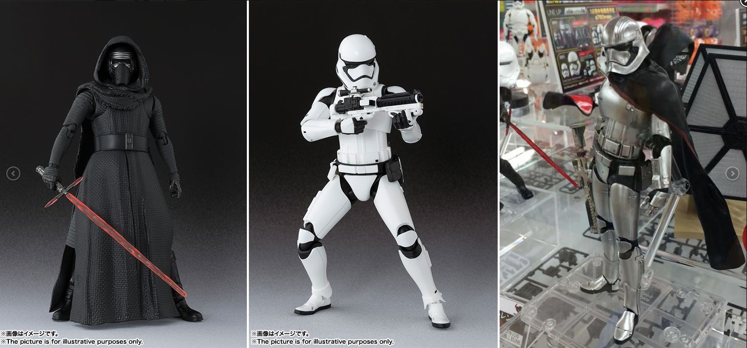 Kylo Ren - Storm Trooper and Captain Phasma - Tamashii Nations SH Figuarts
