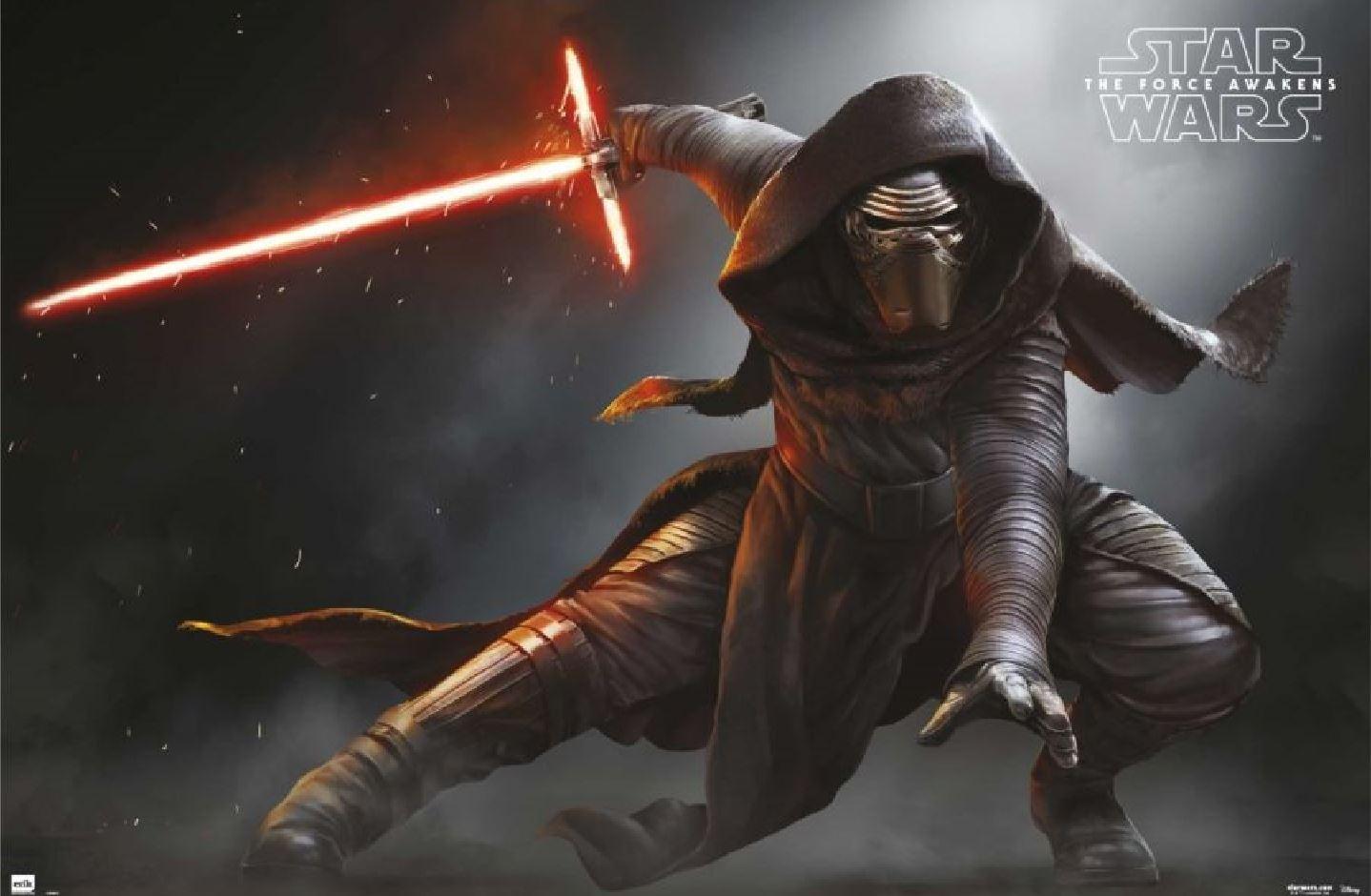 Kylo Ren in The Force Awakens poster