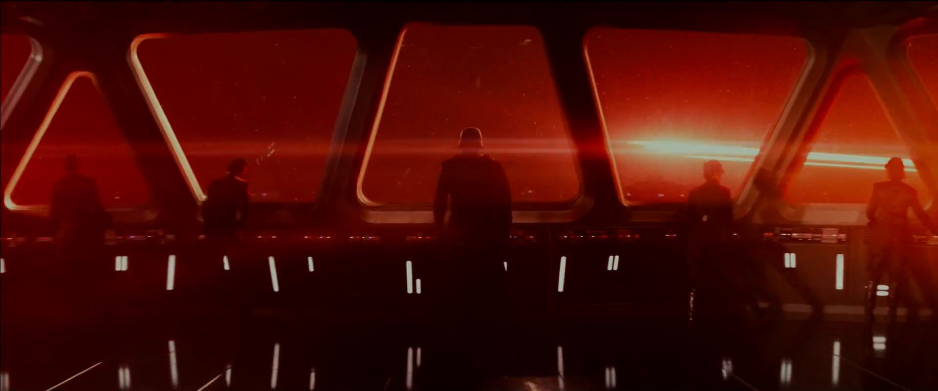 Kylo Ren on the bridge of his Star Destroyer