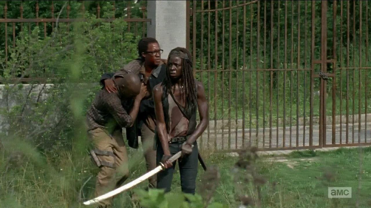 Michonne, Heath and Scott reach Safe Zone. The Walking Dead