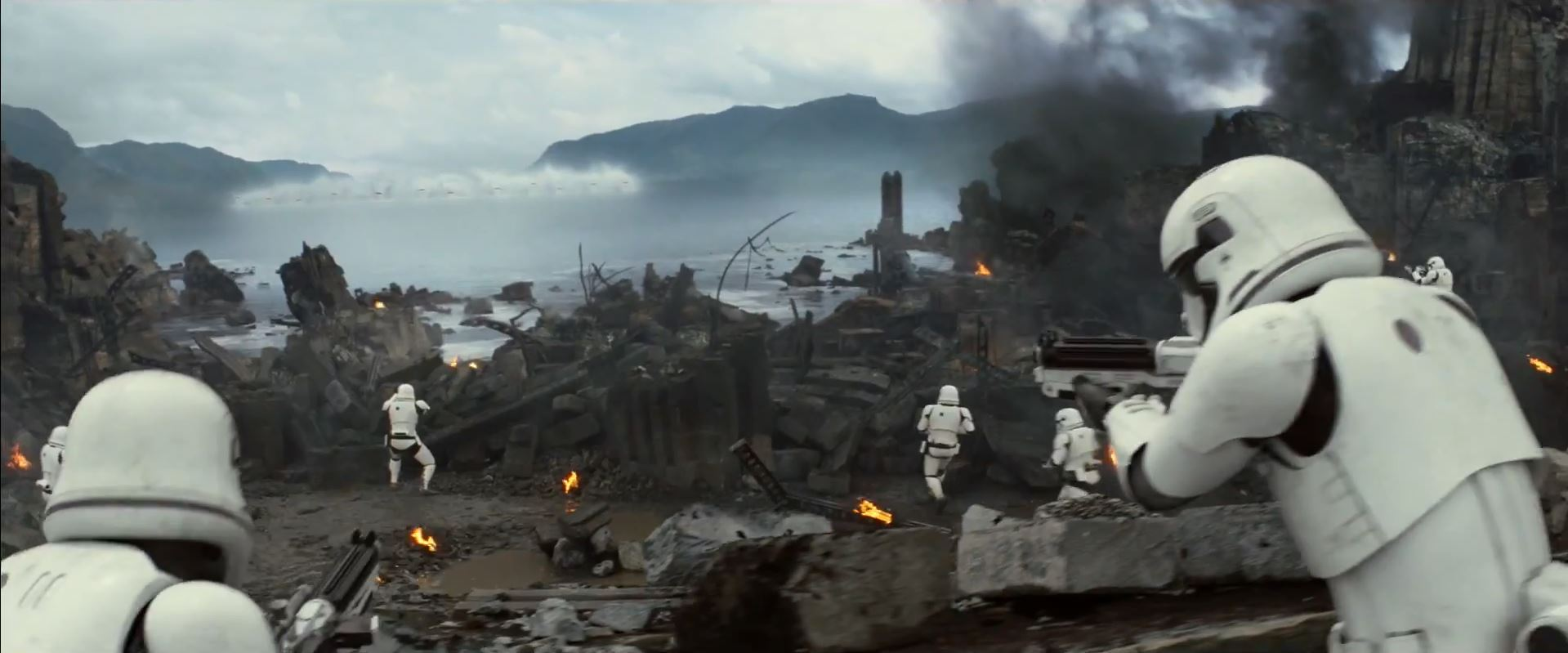 Storm Troopers take up position from X-wing assault