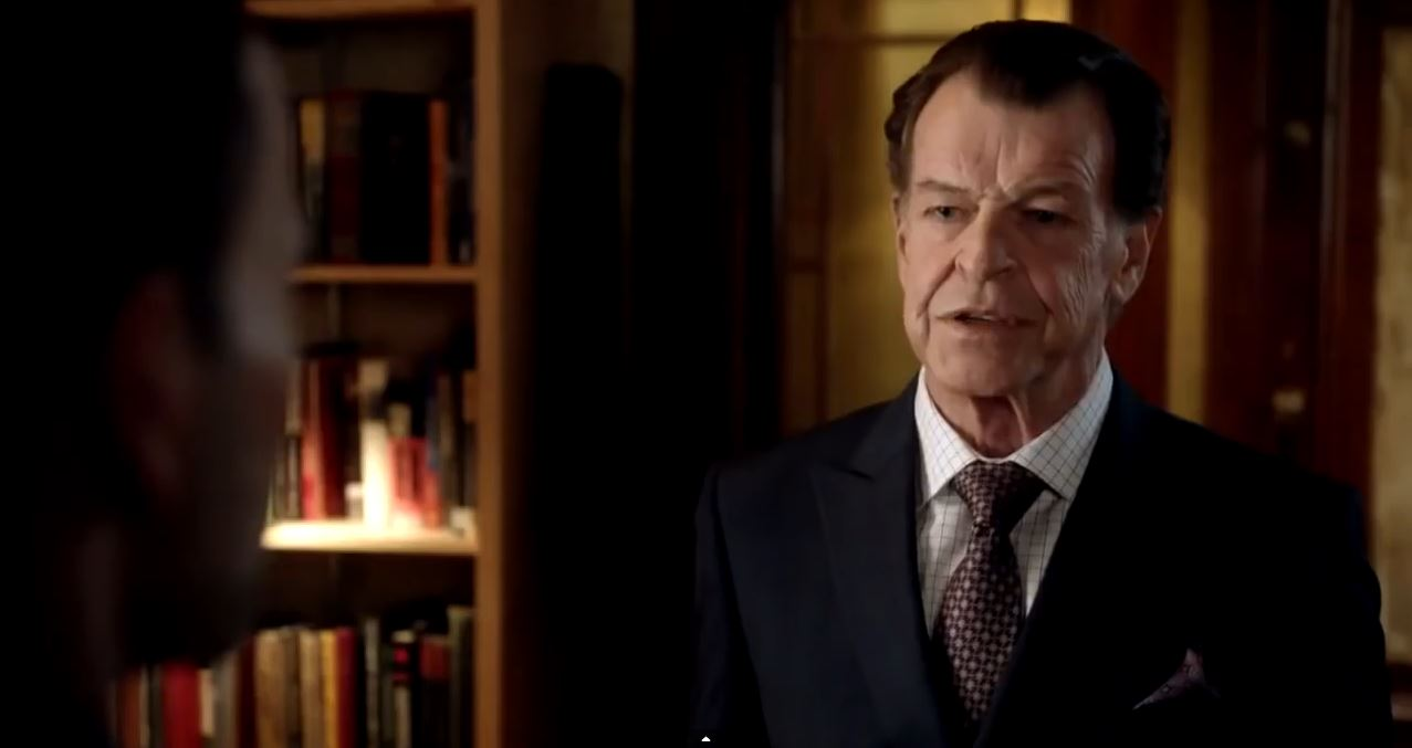 John Noble as Morland Holmes. Elementary Season 4.