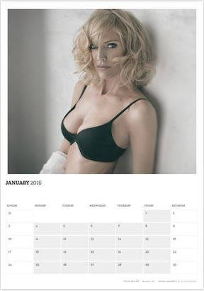 Acting Outlaws 2016 Calendar. Tricia Helfer in January 2016.