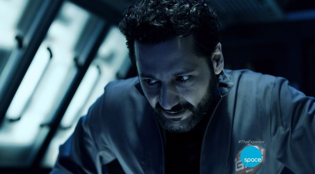 Cas Anvar as Alex Kamal. The Expanse S1E07 Windmills Review