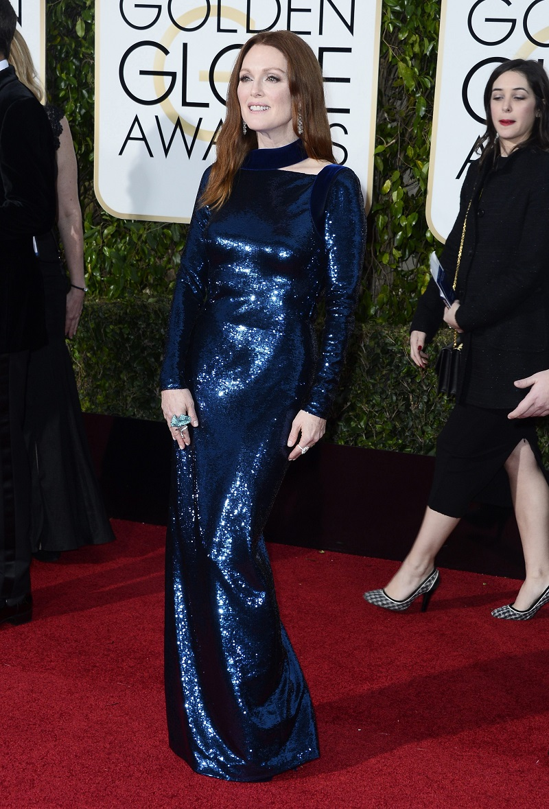 Julianne Moore at Golden Globes 2016