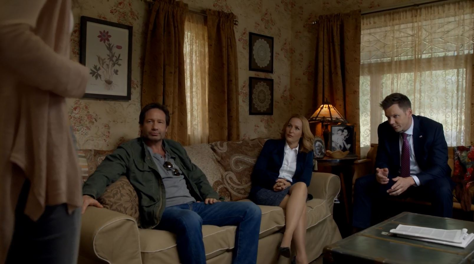 Mulder, Scully and Tad question Sveta. The X-Files (miniseries) My Struggle Review