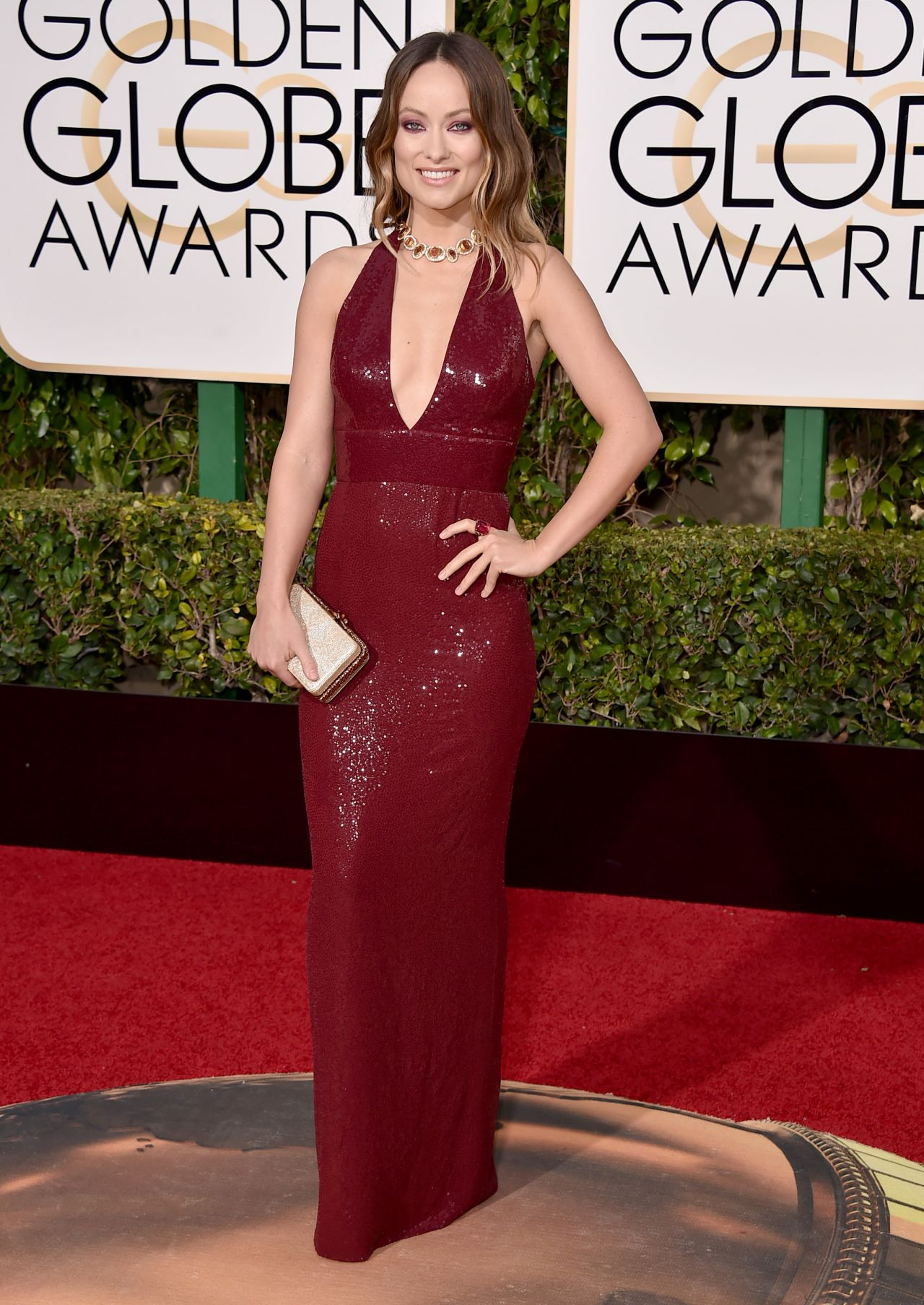 Olivia Wilde at Golden Globes Awards 2016