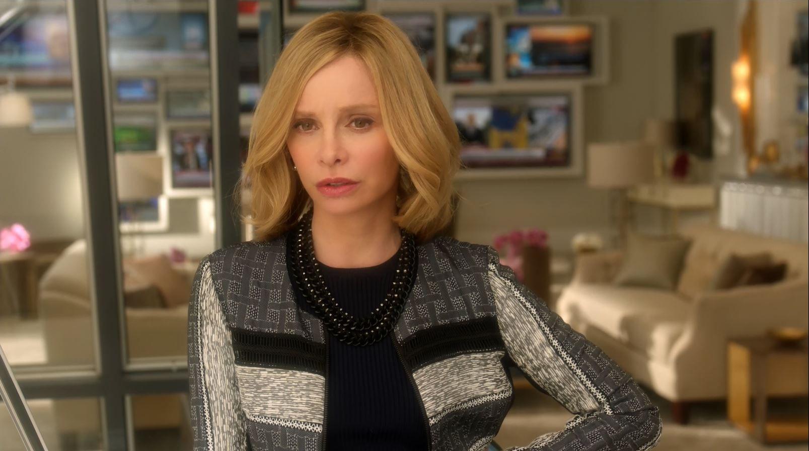 Calista Flockhart as Cat Grant on Supergirl.