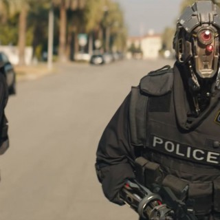Code 8 robot police officers