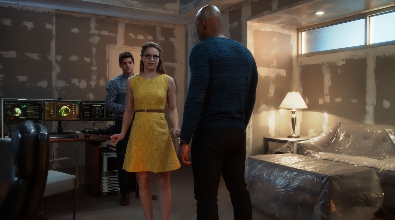 Kara in yellow dress. Supergirl.