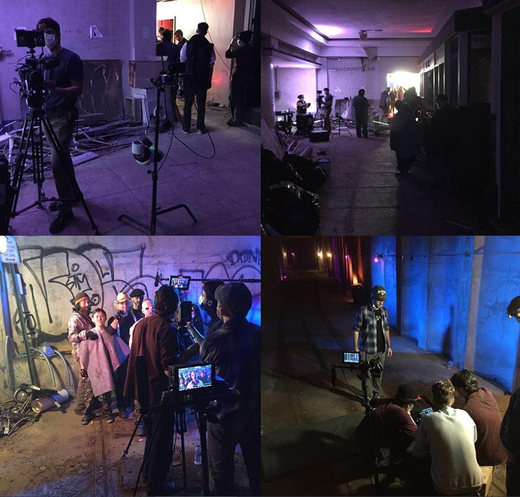 Moonshot on set