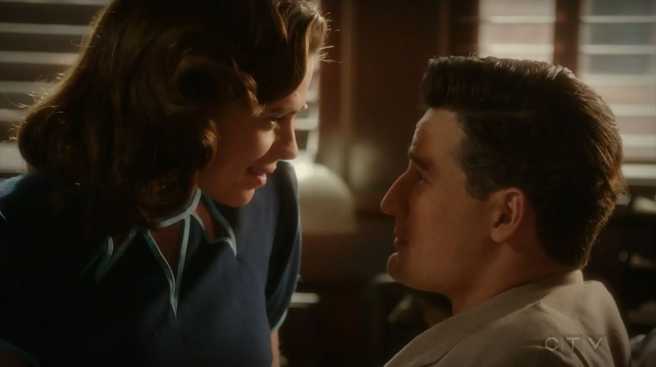 Sousa and Peggy making out. Agent Carter S2Ep10 Hollywood Ending Review