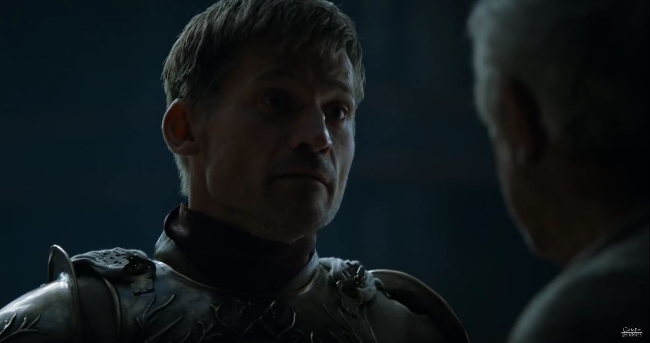 Game Of Thrones Season 6 Preview. Jaime talks to the sparrow.