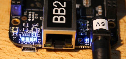 All 4 LEDs are on. Flashing your BeagleBone Black eMMC with Debian