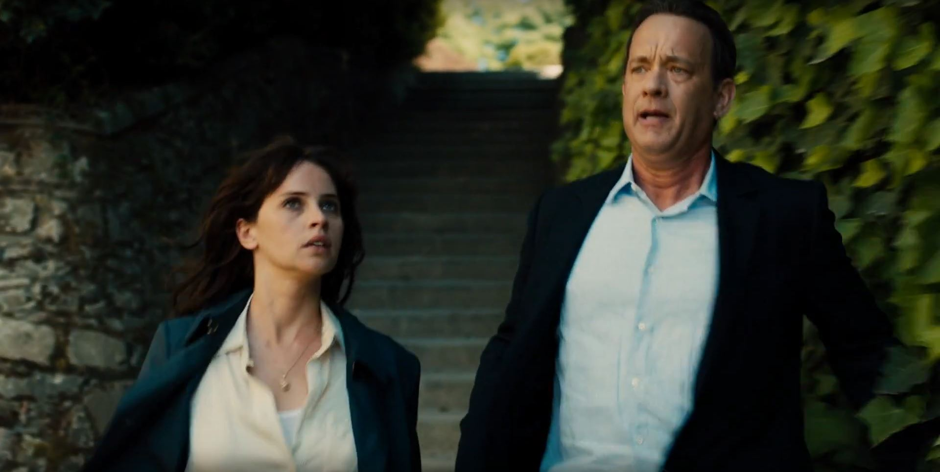 Felicity Jones and Tom Hanks in Inferno Teaser