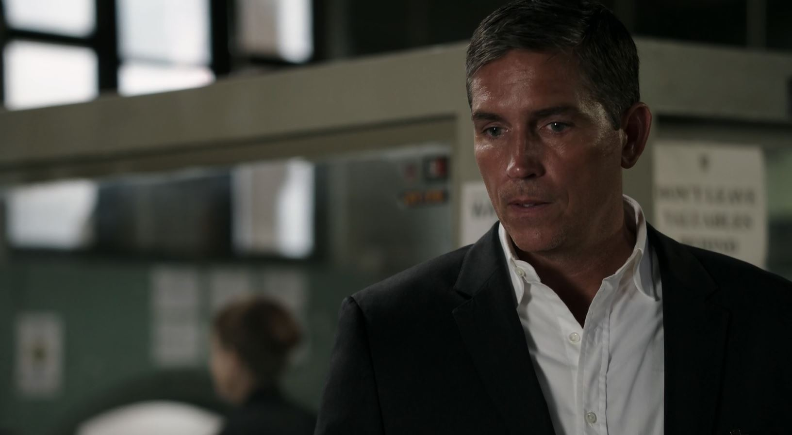 Jim Caviezel as Reese. Person Of Interest S5Ep01 B.S.O.D. Review