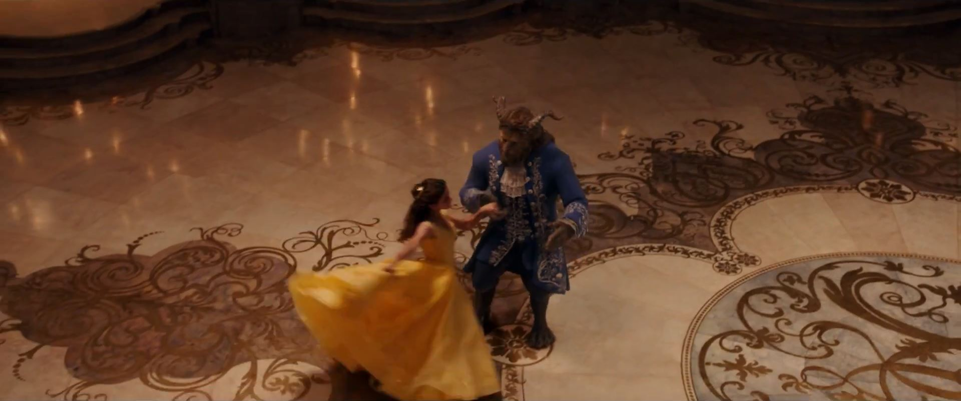 Emma Watson yellow ball gown in Beauty and the Beast