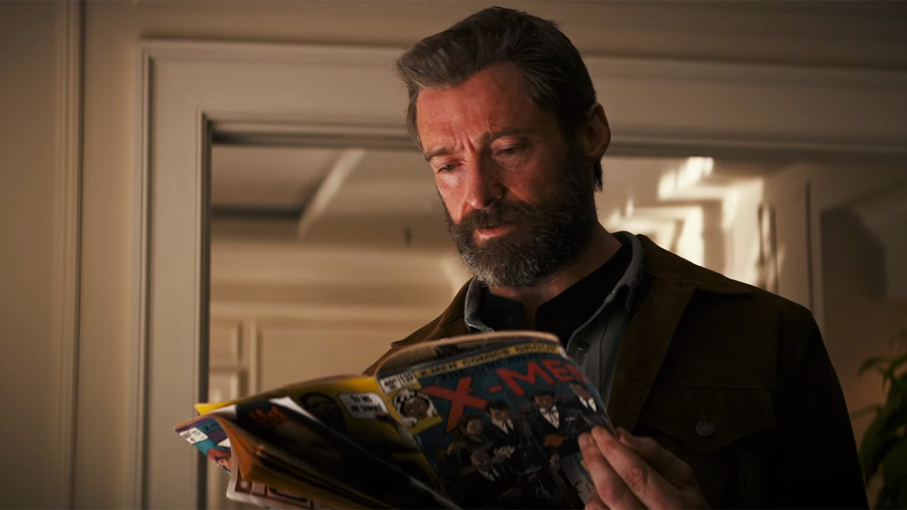 new Logan trailer - Logan reading a comic