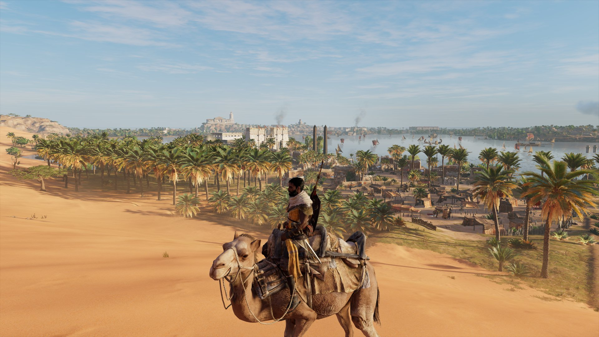 Assassin's Creed Origins - Bayek watches the Nile
