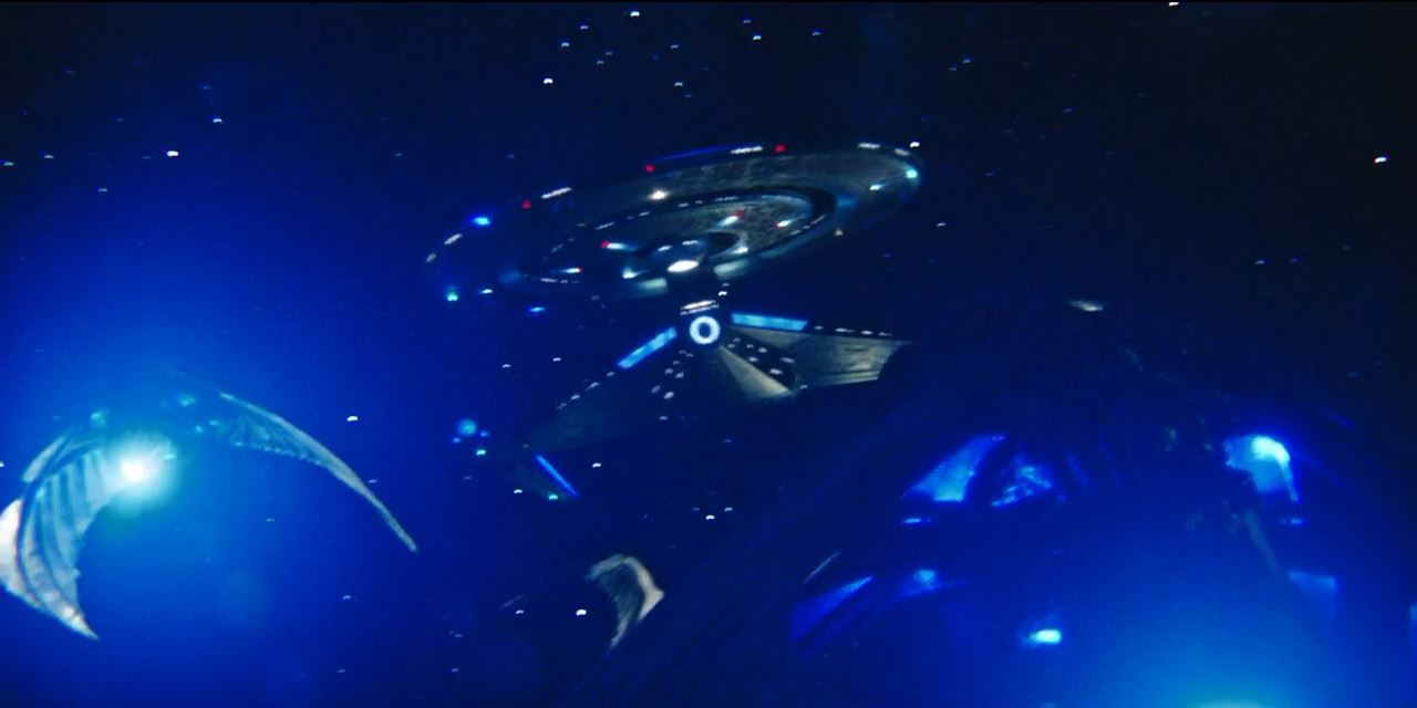 Discovery fighting the Klingons