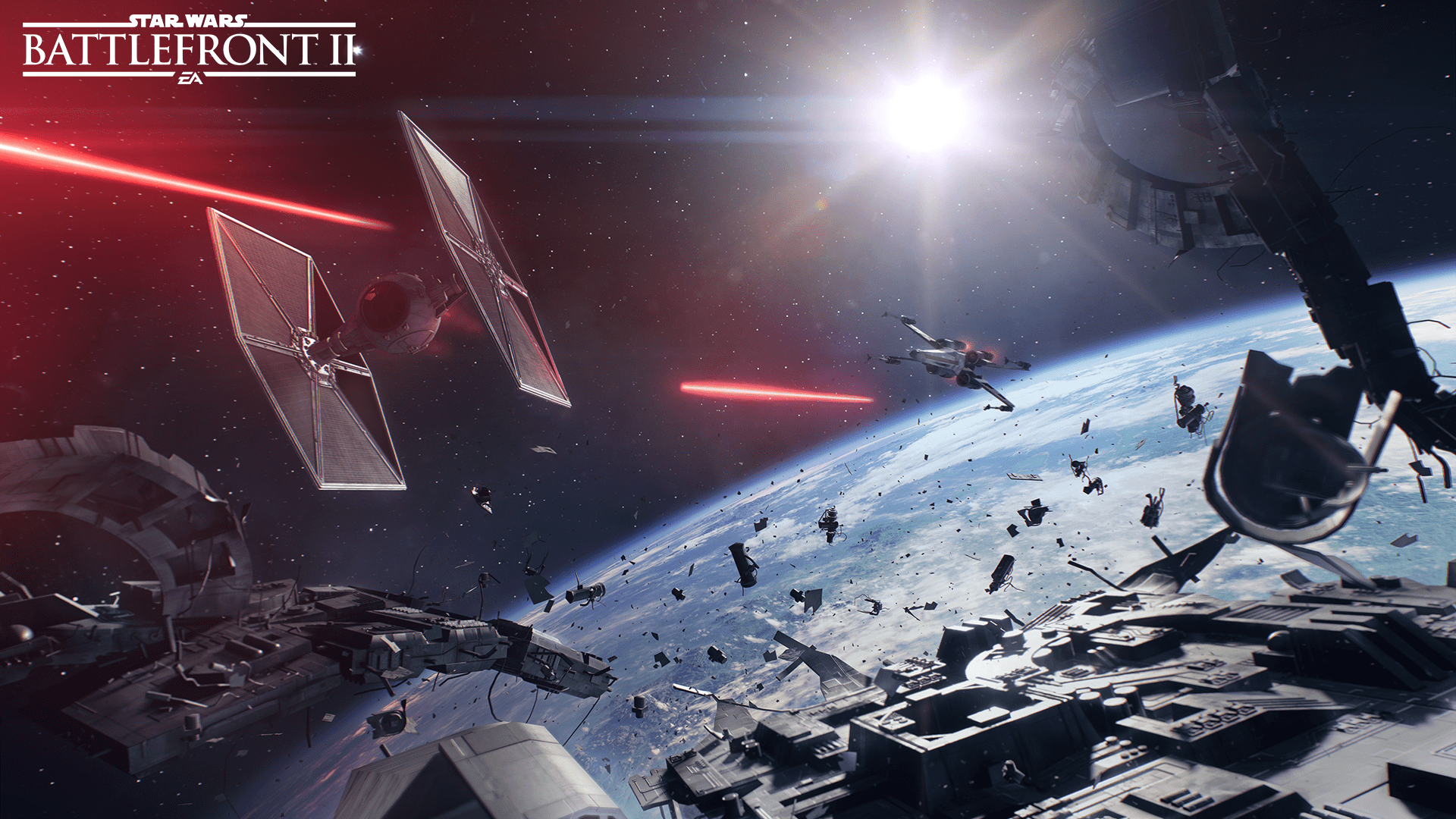 Star Wars Battlefront 2 - Space battle debris field